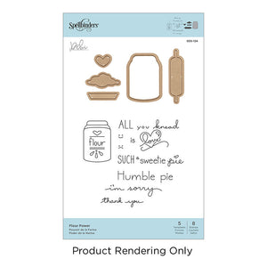Spellbinders Dies and Stamps- Flour Power SDS-124