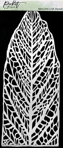 Picket Fence Studios Slim Line Leaf Stencil (SC196)