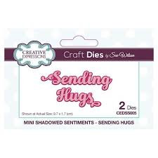 Creative Expressions Craft Dies by Sue Wilson - Sending Hugs