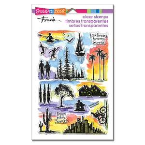 Stampendous! Fran's Clear Stamps - Sunrise Sunset PCS (SSC2006)