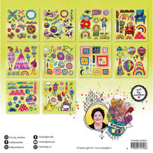 Load image into Gallery viewer, PRE-ORDER Art by Marlene Die Cut Block - Marlene's World Lime (PUNCHBLOCKBM03)
