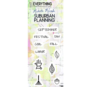 Suburban Planning Planner Stamp Set by Michelle McCosh - September