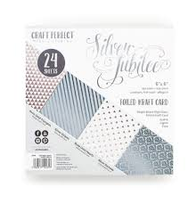 Craft Perfect Silver Jubilee 6 x 6 Foiled Kraft Card (9435E)