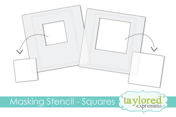 taylored expressions 6x6 Designer Masking Stencil - Squares (TESM37)