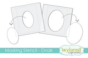 taylored expressions 6x6 Designer Masking Stencil - Ovals (TESM39)