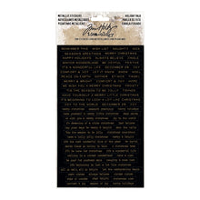 Load image into Gallery viewer, Metallic Stickers Holiday Talk Tim Holtz TH93642