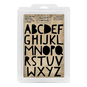Tim Holtz Idea-ology- Cling Foam Stamps- Cutout Upper (TH93699)