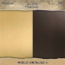 Tim Holtz idea-ology Kraft Stock Metallic 3 (TH94021)