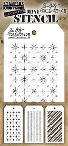 Stampers  Anonymous Tim Holtz Collection Layering Mini Stencil (THMST031)
