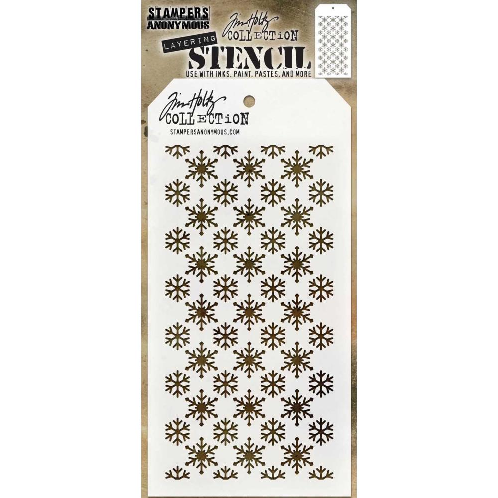 Stampers Anonymous Tim Holtz Collection Layering Stencil - Flurries (THS151)