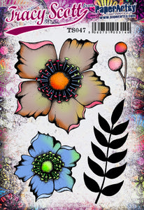 PaperArtsy Stamp TS047 by Tracy Scott (TS047)