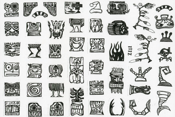 Teesha Moore Stamps - Tikis and Totem