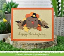 Load image into Gallery viewer, LawnFawn Lawn Cuts Dies- Tiny Gift Box Peacock and Turkey Add-On (LF2051)