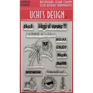 Uchi's Design Bilingual Clear Stamps - Summer/Verano