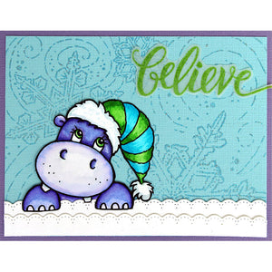 "Stampendous! Fran's 6"" x 6"" Cling Rubber Stamp - Winter Blizzard (6CR009)"