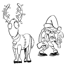 Art Gone Wild! Cling Stamps - Zombie Elf & Reindeer (L-2804)
