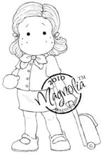 Load image into Gallery viewer, Magnolia Rubber Stamps- EZ Mounted Stamp- Flight Attendant (M206)