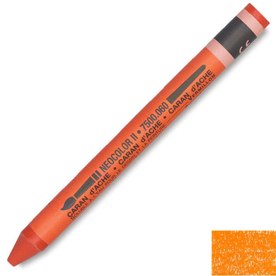 Caran D'Ache Neocolor II Watercolor Crayons - Orange #030