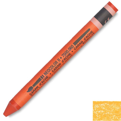 Caran D'Ache Neocolor II Watercolor Crayons - Orange Yellow #031