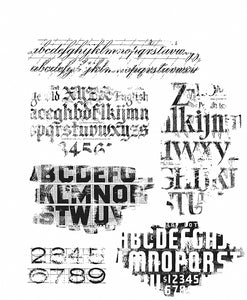 Tim Holtz Stamp Faded Type  CMS397