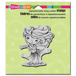 Stampendous Cling Rubber Stamp Hula Kiddo (CRV265)
