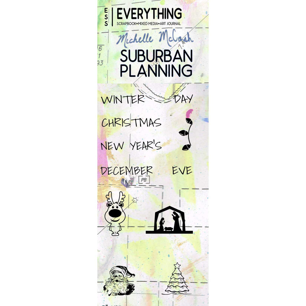 Suburban Planning Planner Stamp Set by Michelle McCosh - December