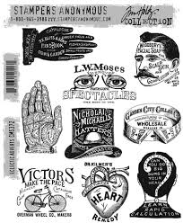 Tim Holtz- Stampers Anonymous Cling Stamps- Eclectic Adverts (CMS372)