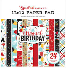 Echo Park Paper Co. 12x12 Paper Pad - Magical Birthday Boy (MBB232030)