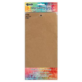 Dylusions- Journaling Tags Kraft #12 Size