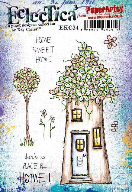 PaperArtsy Eclectica3 by Kay Carley - Fun Fairy Woodland Houses (EKC34)