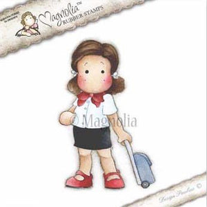 Magnolia Rubber Stamps- EZ Mounted Stamp- Flight Attendant (M206)