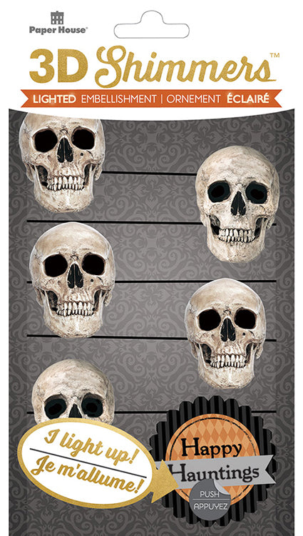 Paper House: 3D Shimmers- Skull Garland EMB-0041