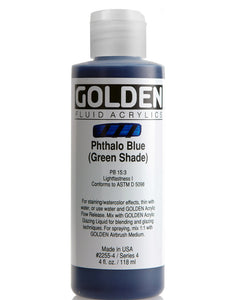 Golden Fluid Acrylics- Phthalo Blue (Green Shade) (2255-4)