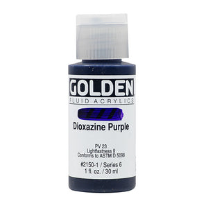 Golden Fluid Acrylics- Dioxazine Purple (2150-1)