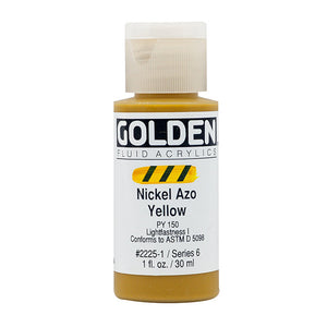 Golden Fluid Acrylics- Nickel Azo Yellow (2225-1)