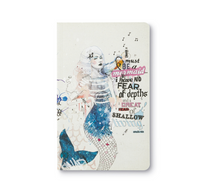 "Load image into Gallery viewer, Compendium Write Now- ""I must be a mermaid... I have no fear of depths, and a great fear of shallow living"" Journal (IMBAM)"