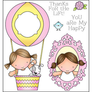 Darcie's Heart & Home: Cling Mounted Rubber Stamp Set - Thanks for the LIft - - JCS238