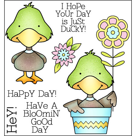 Darcie's Heart & Home: Cling Mounted Rubber Stamp Set - Ducky Day - JCS241
