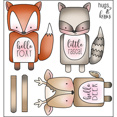 Darcie's Heart & Home: Cling Mounted Rubber Stamp Set - Hello Foxy - JCS307