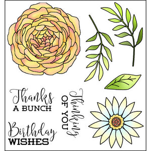 Darcie's Heart & Home: Cling Mounted Rubber Stamp Set - Thanks a Bunch - JCS319