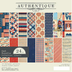Authentique- 6 x 6 Paper Pad- Liberty (LIB010)