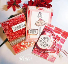 Load image into Gallery viewer, Rinea Love Foiled Paper Variety Pack (CP12V-LUV)
