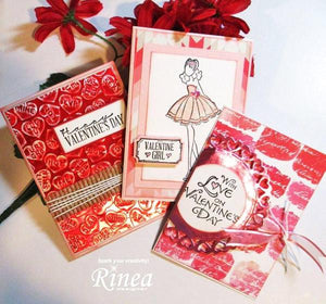 Rinea Love Foiled Paper Variety Pack (CP12V-LUV)