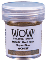 Load image into Gallery viewer, WOW! Embossing Powder- Metallic Gold Rich Super Fine (WC04SF)