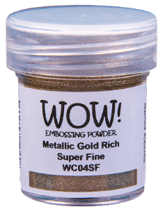 WOW! Embossing Powder- Metallic Gold Rich Super Fine (WC04SF)