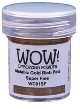 Load image into Gallery viewer, WOW! Embossing Powder- Metallic Gold Rich Pale Super Fine (WC01SF-O)