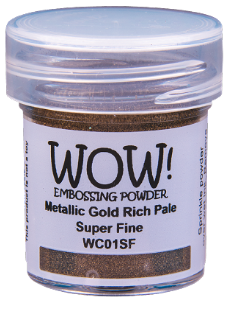 WOW! Embossing Powder- Metallic Gold Rich Pale Super Fine (WC01SF-O)