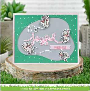 Lawnfawn Photopolymer Clear Stamps - Mice on Ice (LF2031)