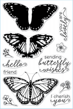 Load image into Gallery viewer, Hero Arts- Polyclear Stamps- Color Layering Monarch Butterfly (CMS331)