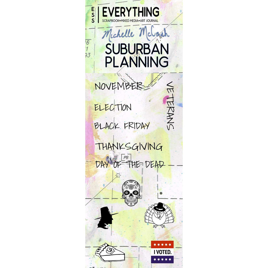Suburban Planning Planner Stamp Set by Michelle McCosh - November